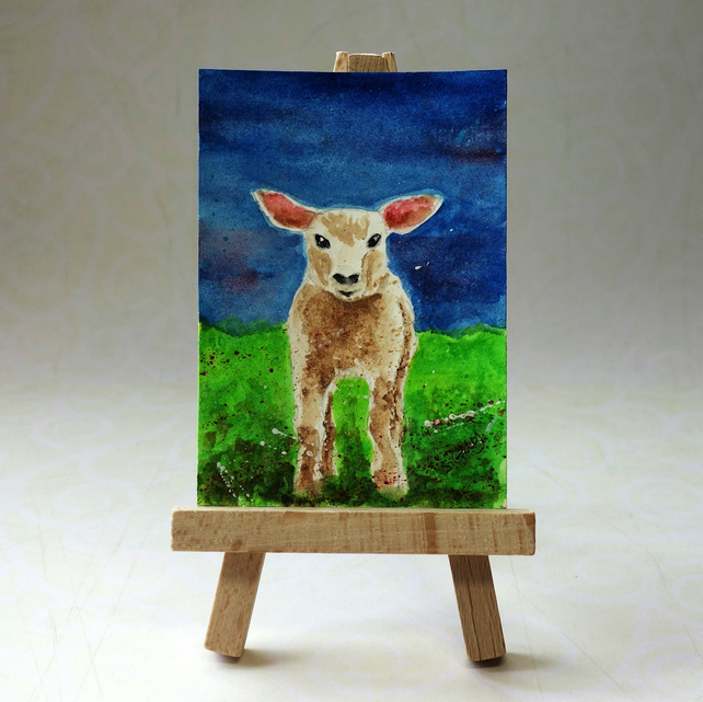 Lamb Painting ACEO