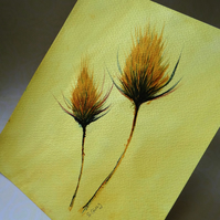 Autumn Painting Teasels