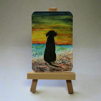 Labrador dog painting ORIGINAL ACEO