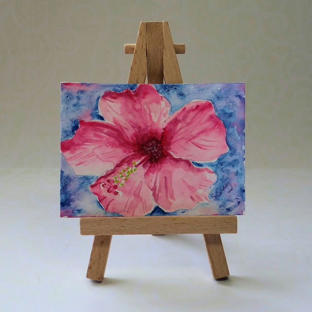 Hibiscus Watercolour ACEO