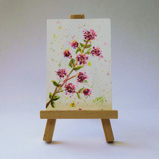 Oregano Flower Painting