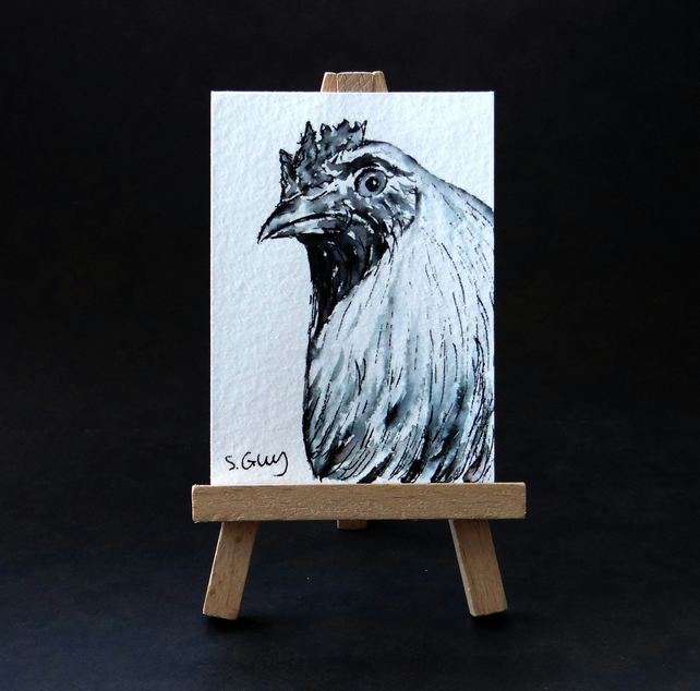 Chicken painting ACEO
