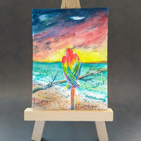 Parrot at the Beach
