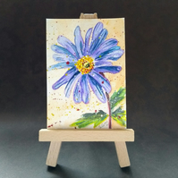 Blue daisy painting