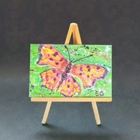 Dolls House miniature butterfly painting