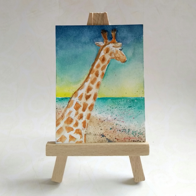Giraffe at the Beach FREE UK POST