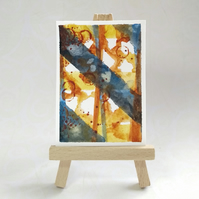 ACEO original abstract miniature painting FREE UK POST
