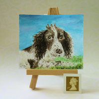Custom miniature pet painting FREE UK POST