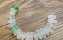 Middle drilled sea glass beads