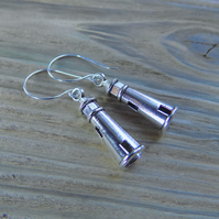 Fun lighthouse charm earrings with sterling silver hooks