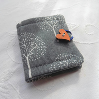 Linen-cotton sewing needle book ,case ( grey- white option)