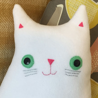 Cat Cushion: Handmade  Cushion (Mr Noah Whiskers)