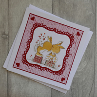 SALE - 50% OFF Bunnies in Love - Anniversary, Love Card