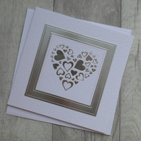 Silver Heart of Hearts - Anniversary or Love Card