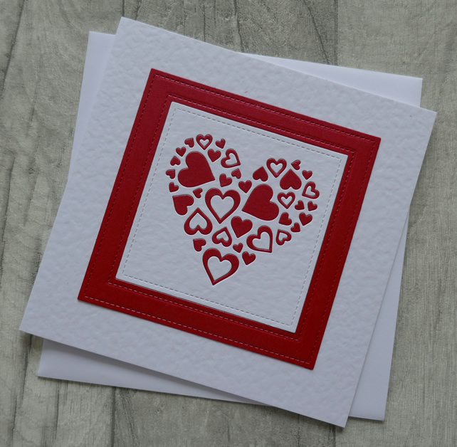 Ruby Heart of Hearts - Anniversary or Love Card