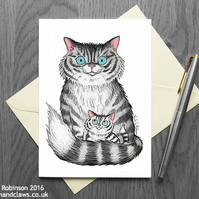 Cat Mother's Day Card - Blank Inside