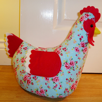 Opal chicken doorstop