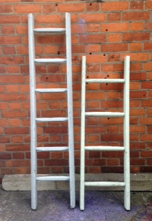 Small vintage wooden ladder towel rail folksy