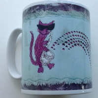 'The Jazz Cat' mug