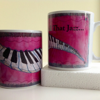 'The Jazz Piano' mug