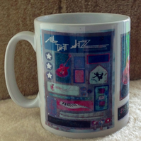 'All That Jazz' Guitar Collage mug