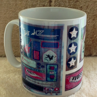 'All That Jazz' Dancers Collage mug