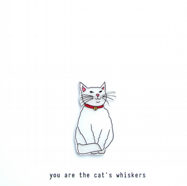 you are the cat's whiskers - handmade card