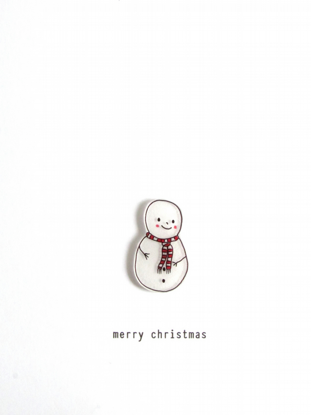 SALE - christmas card - snowman