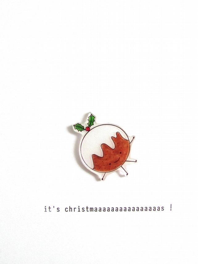 SALE - christmas card - it's christmaaaaaaaaaaaaaaaas! pudding