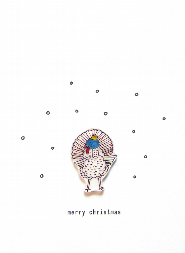 SALE - christmas card - merry christmas turkey
