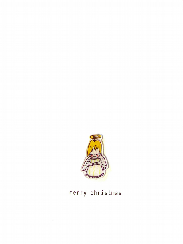 SALE - christmas card - angel