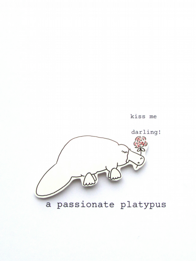 love card - a passionate platypus
