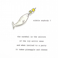 'the narwhal is the unicorn ...' - handmade card