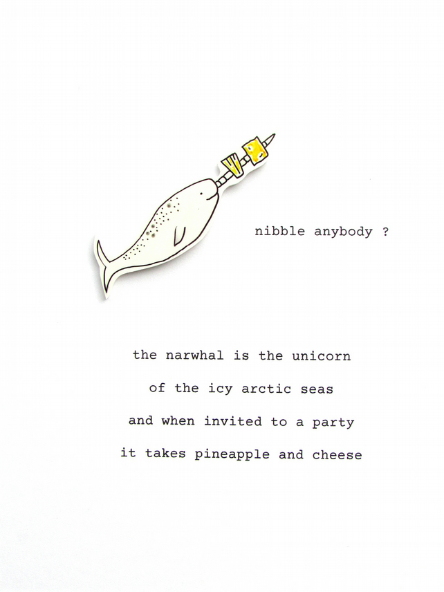 birthday card - narwhal's nibbles