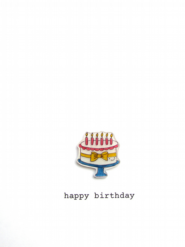 birthday card - birthday cake