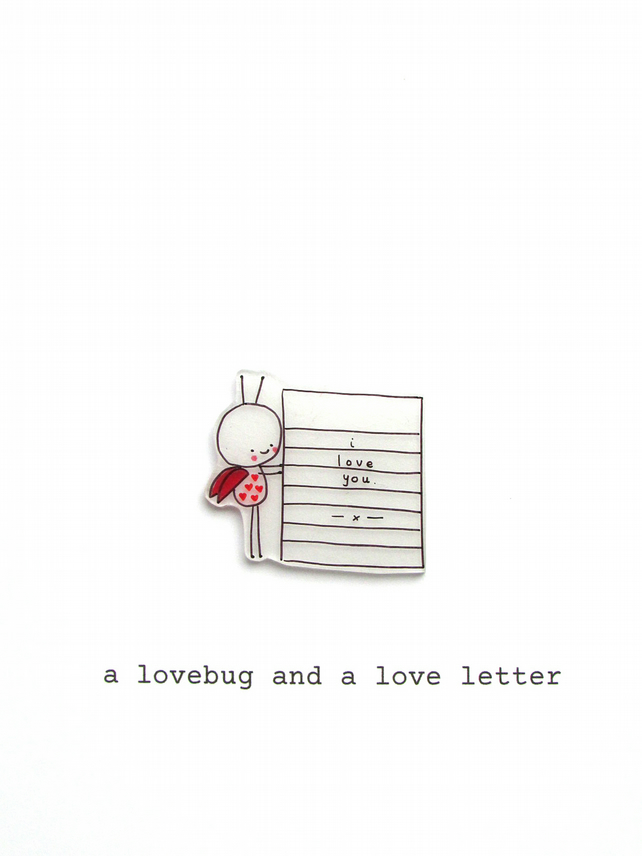 love card - a lovebug & a love letter