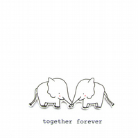 love card - elephants