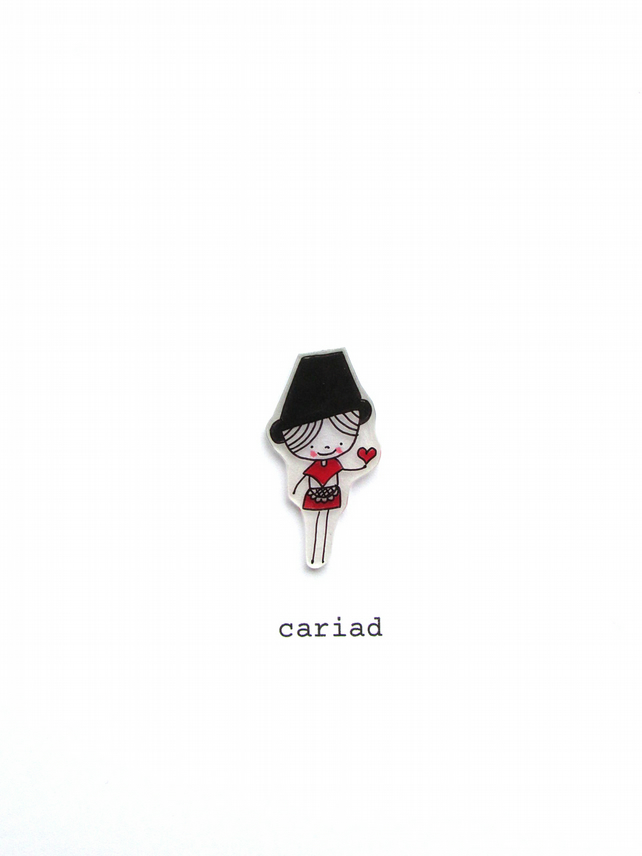 welsh card - cariad