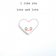 love card - i like you lots and lots