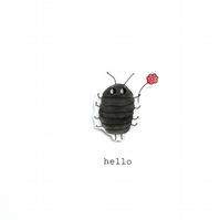 card - hello - winnie woodlouse