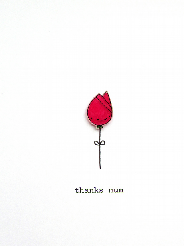 mother's day cay card - tulip - various colours