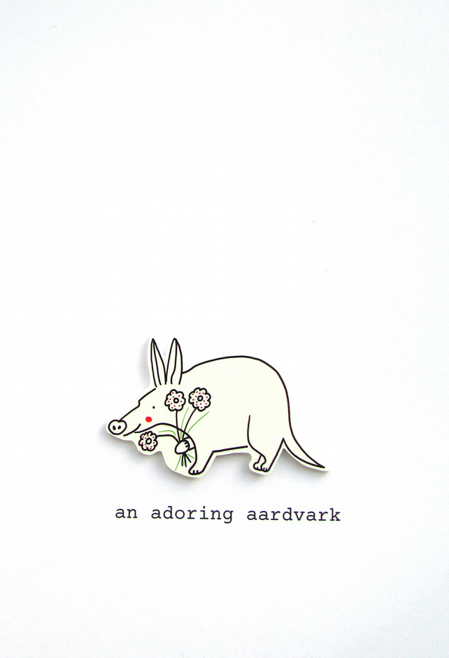 love card - an adoring aardvark