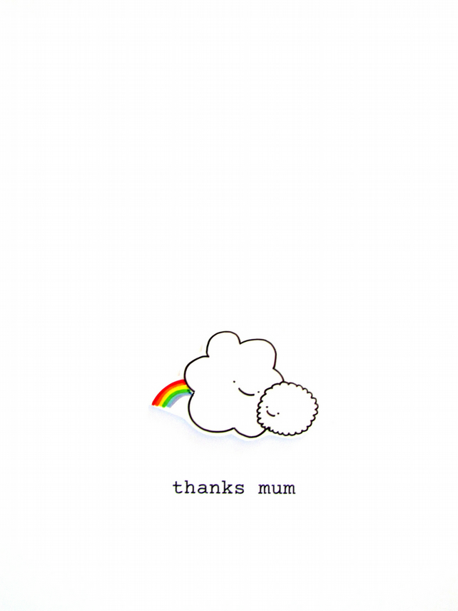 mother's day card - happy clouds