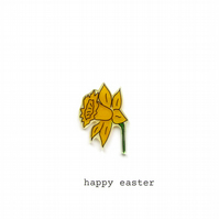 easter card - daffodil