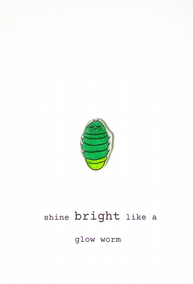 card - shine bright like a glow worm