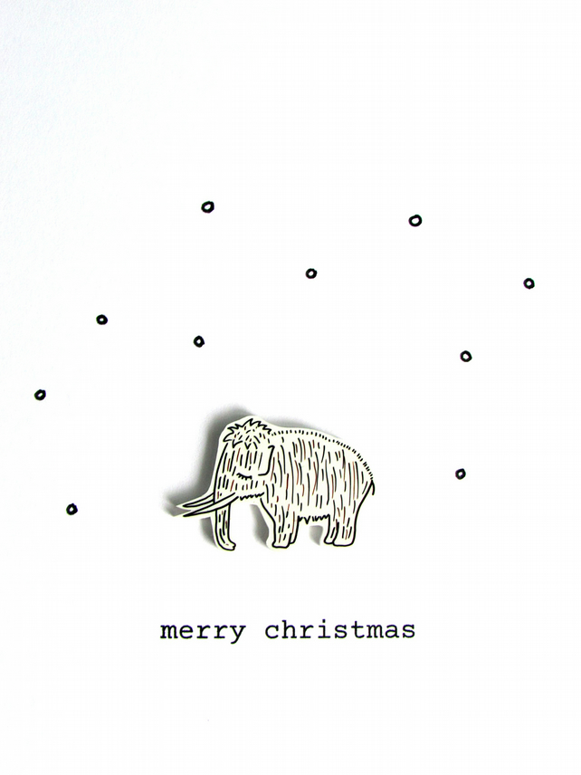 christmas card - woolly mammoth