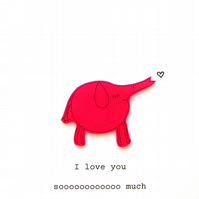 love card - elephant