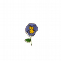 blank card - handmade pansy flower card