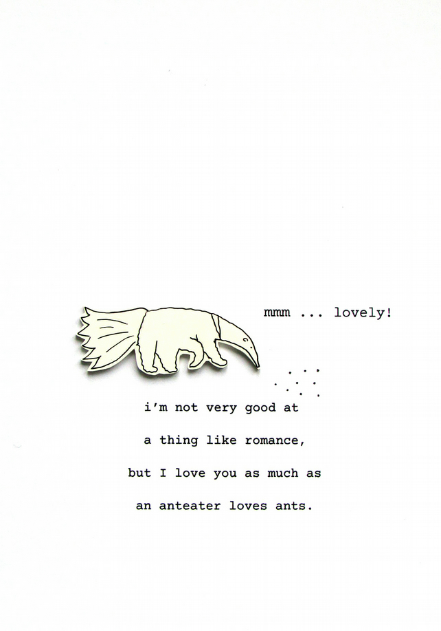 valentine's day card - anteater love