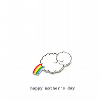 mother's day card - clouds and rainbow